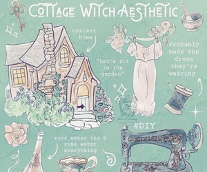 aesthetic, witch, and cottage witch image