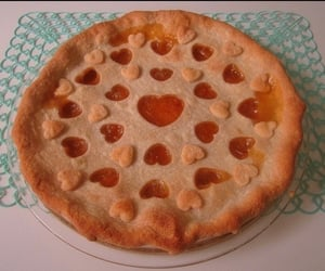 pie, food, and heart image