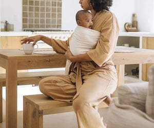 black women, boy, and home image