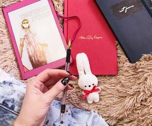 book, bunny, and writing image