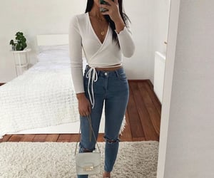 basic, outfit, and jeans image