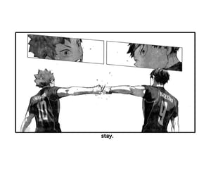 crying, haikyuu, and kagehina image