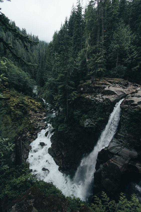 лето, красиво, and водопад image