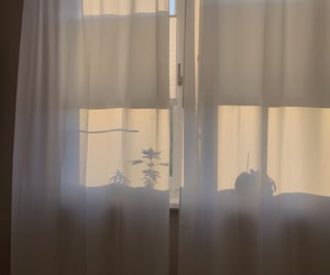 aesthetic, curtain, and light image