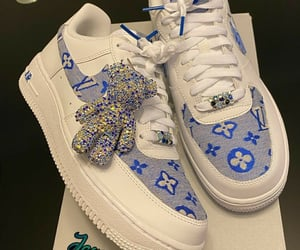 air force, blue, and custom image
