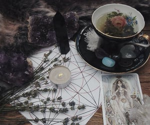 witch, tarot, and magic image