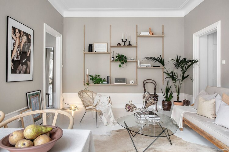 apartment, beige, and bright image