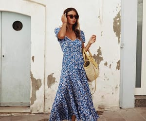 blogger, fashion, and floral dress image