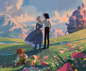 art and howl's moving castle image