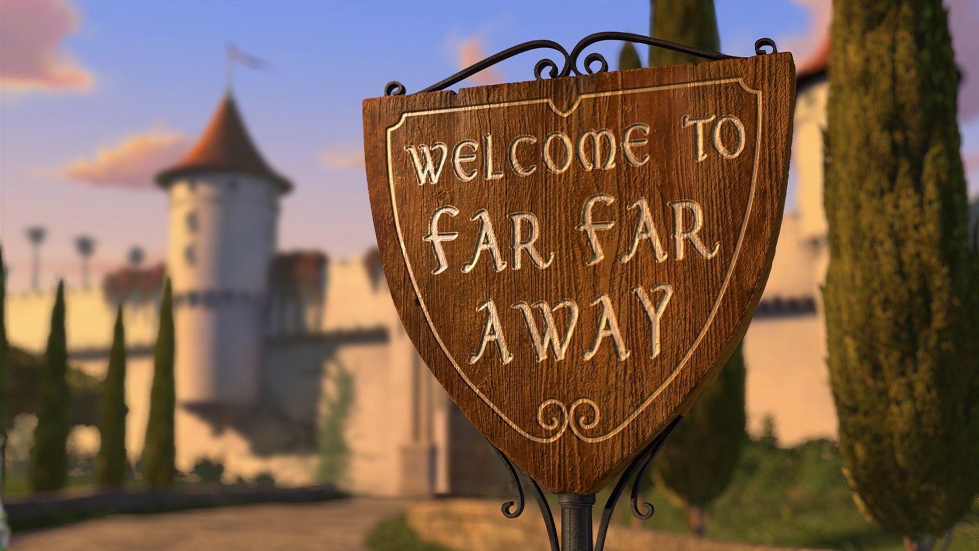 far far away, shrek, and away image
