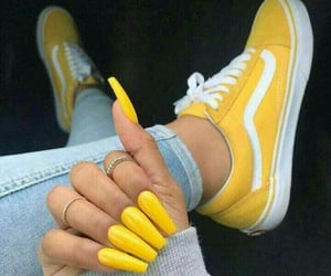 nails, yellow, and art hoe image