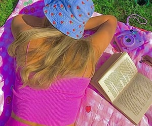 aesthetic, summer, and book image