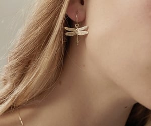 blonde, earrings, and jewellery image