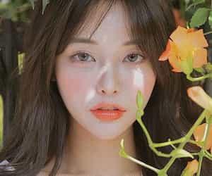 aesthetics, orange, and asian girl image