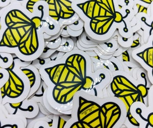 stickers, bees, and jewelry image