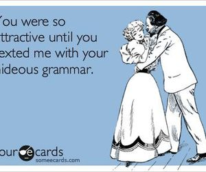 grammar, attractive, and funny image