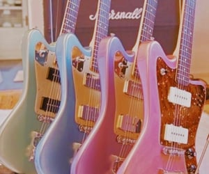 guitar, blue, and music image