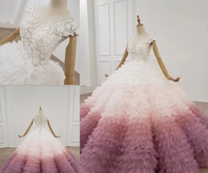 ball gown, vintage, and wedding dress image