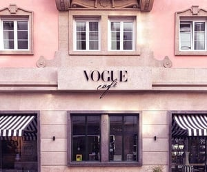 cafe, pink, and vogue image