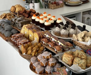bakery, bread, and cupcake image