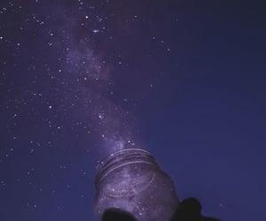 wallpaper, stars, and night image