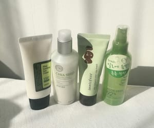 green, aesthetic, and skin care image