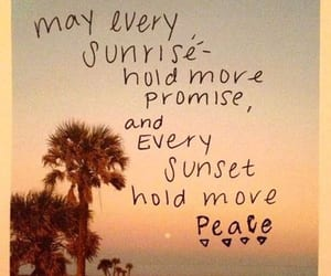hippie, peace, and sunset image