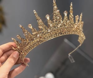gold, crown, and jewels image