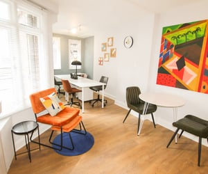 working space, home inspiration, and coworking space image