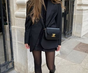 closet, fashion, and total black outfit image