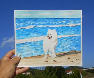 etsy, watercolor painting, and dog lovers gift image