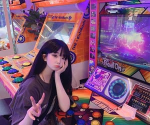 arcade, asian, and babes image