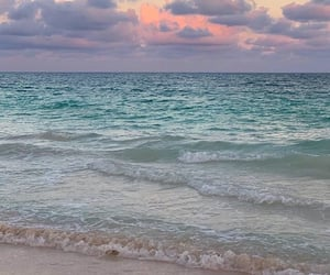 ocean, beach, and pink image