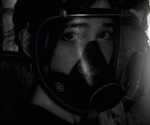gas mask, ellie, and the last of us image