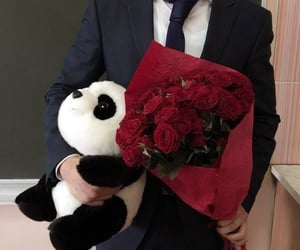 flowers, roses, and boy image