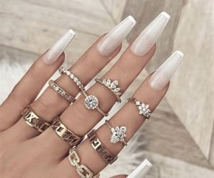 style, nails, and rings image