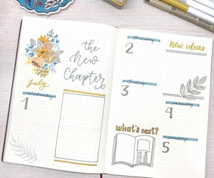 journal, bujo, and weekly plan image