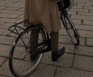 aesthetic, bike, and brown image
