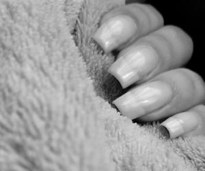 black and white, nails, and 💅 image