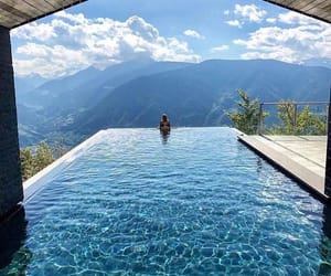 pool, travel, and mountains image