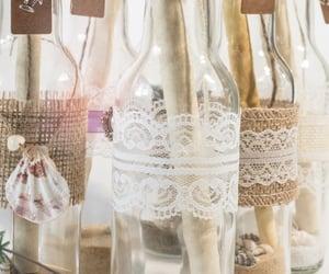 bottle, glas, and bottles image