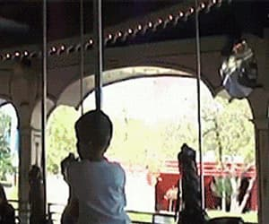 merry go round, gif, and free ride image