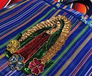 virgen de guadalupe, tote bags, and mercado bags image