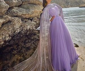 dress, long, and purple image