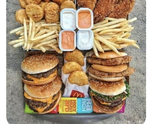food, menu, and mcdonald's image