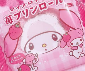my melody, sanrio, and sweets image