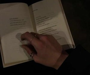 aesthetic, dark, and book image