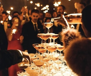 champagne, party, and love image