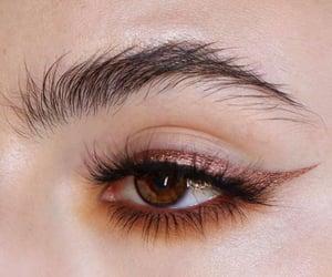 brown eyes, makeup, and eyes image