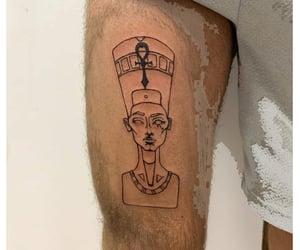 egypt, nefertiti, and tattoo image
